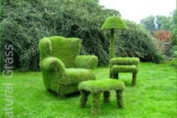 Мебель из газона