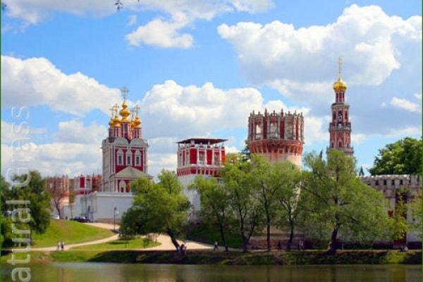 Газон у Новодевичьего монастыря