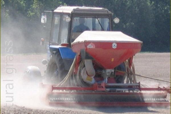 Посев газонных трав