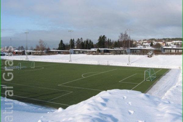Футбольное поле с подогревом